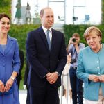 Diplomatic dresser Kate looked stunning in cornflower blue the shade of Germanys national flower