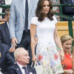Duchess Kate looked to be having a wonderful time at the match. She wowed in a stunning summery white dress Photo C GETTY IMAGES