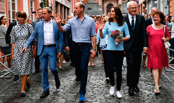 Duchess of Cambridge, Kate explored the town centre of Heidelberg Photo (C) AFP, GETTY