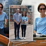 Duchess of Cambridge Kate swapped her yellow lace for a striped top and jeans Photo C PA