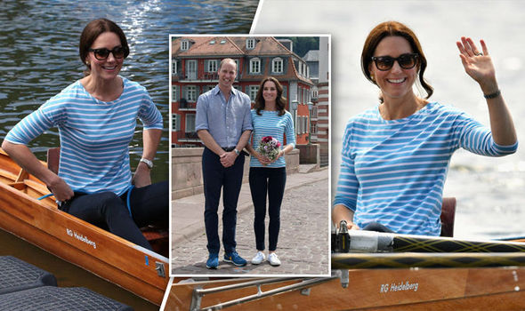 Duchess of Cambridge Kate swapped heels for comfortable white plimsoles Photo C AFP GETTY