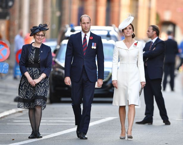 Duchess of Cambridge and Prince William arrive at Menin Gate in Ypres, Belgium (Image Rex)