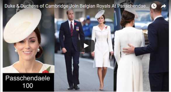 Duke Duchess of Cambridge Join Belgian Royals At Passchendaele 100 Years Ceremony 2017
