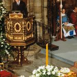Earl Spencer delivering his eulogy for his sister Princess Diana Photo C REX