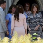 Eugenie 27 mingled with guests before moving on to her next engagement