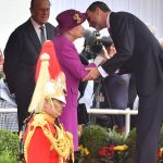 Felipe greets the Queen on Horse Guards Parade. Ahead of the meticulously planned ceremony