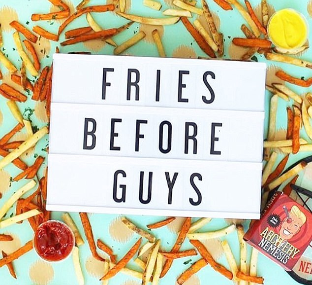 Meghan Markle: Fries before guys,' as if! Not when that guy is fifth in line to the throne and you don't stay as skinny as I am eating chips as the Brits call them