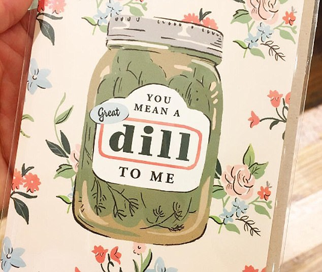 Meghan Markle: Here's a silly card I bought for my own little pickle in the palace, saying 'You mean a great dill to me