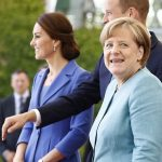 However Kate may have briefly left the German chancellor unimpressed by admitting she doesnt speak the language