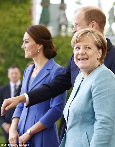 However, Kate may have briefly left the German chancellor unimpressed by admitting she doesn't speak the language