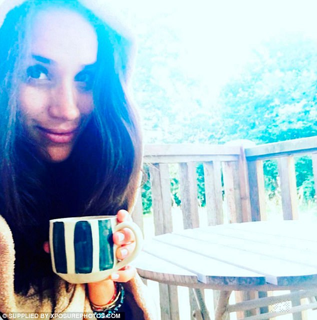 Meghan Markle: I posted this cheeky little snap, drinking my coffee, in a pose which also just 'happens' to show me wearing Harry's African love bead bracelet