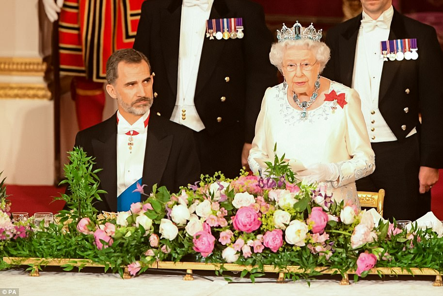 In her speech, she said 'This State Visit is an expression of the deep respect and friendship that describes relations between Spain and the United Kingdom