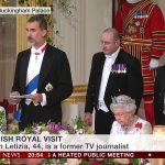 In his banquet speech Felipe paid tribute to the close co operation between Britain and Spain from economic partnerships to cultural links