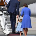Initially Prince William wanted to lend a hand to his daughter but Charlotte was eager to clamber up the steps herself