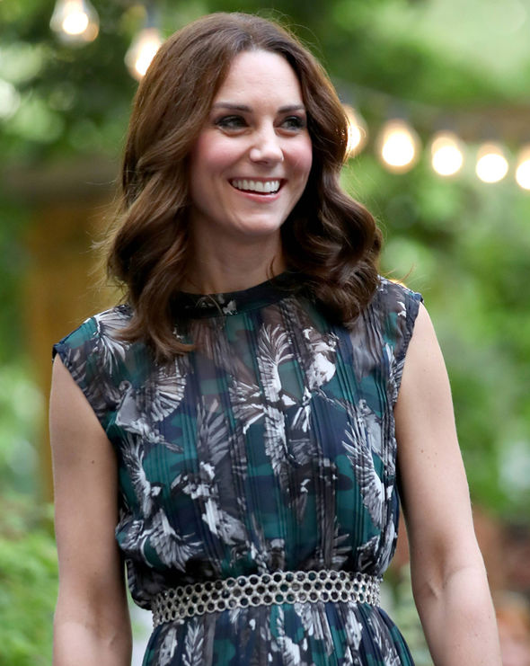 Kate Middleton The 35-year-old dazzled in a bird print dress Photo (C) GETTY