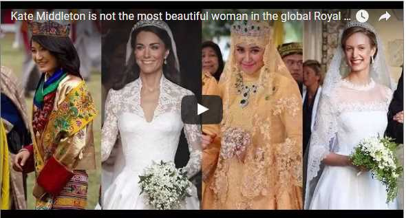 Kate Middleton is not the most beautiful woman in the global Royal bridal gown competition