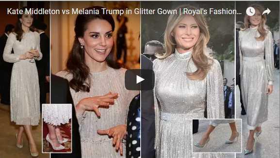 Kate Middleton vs Melania Trump in Glitter Gown