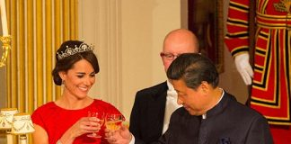 Kate attended her first state banquet in 2015 Photo C GETTY IMAGES