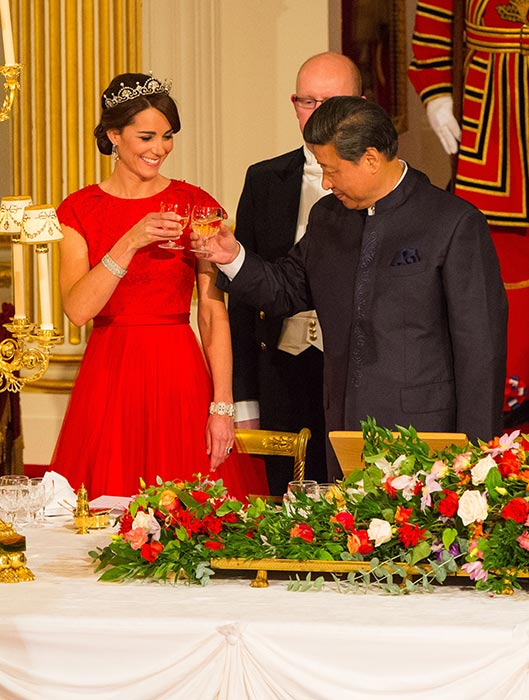 Kate attended her first state banquet in 2015 Photo (C) GETTY IMAGES