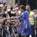 Kate may not speak German but her enthusiasm for the city of Berlin was clear to see as she spent time with royal fans who gathered near the Brandenburg Gate