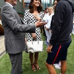 Kate was certainly in her element as she chatted to Austrian player Dominic Thiem who is dating former beauty queen Romana Exenberger