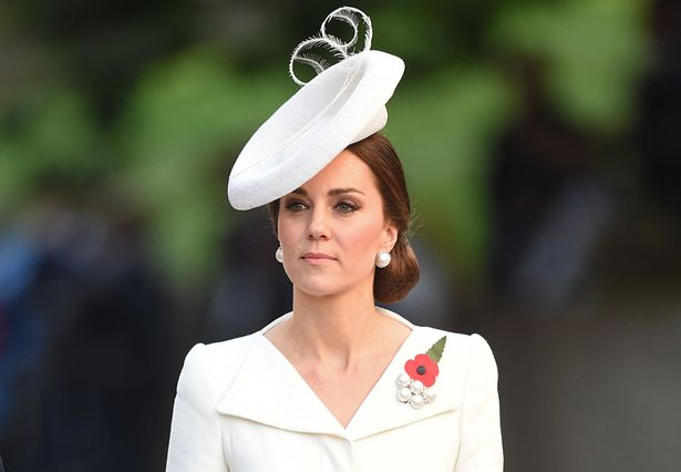 Kate was dressed in a cream Alexander McQueen dress (Image PA)