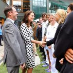 Kate was introduced to tennis legend Martina Navratilova ahead of Andy Murrays match on Centre Court