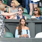 Kates mum pictured with Anna Wintour sat just outside of the Royal Box Photo C GETTY IMAGES
