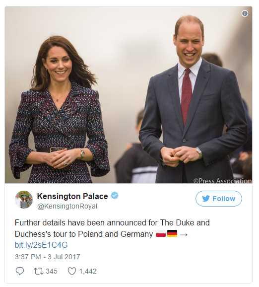 Kensington Palace made annoucement Photo C TWITTER