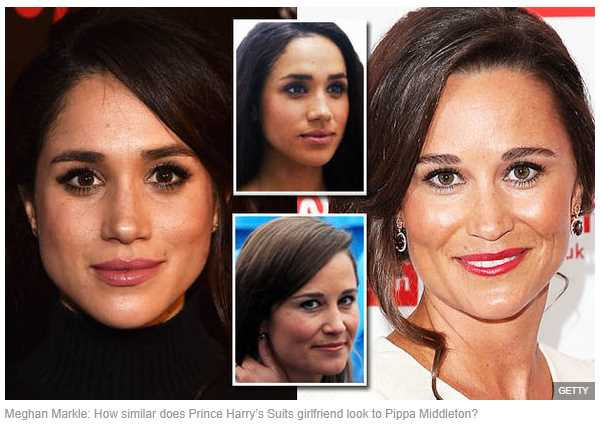 Meghan Markle How similar does Prince Harry's Suits girlfriend look to Pippa Middleton