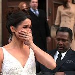 Meghan was crying In the Suits season five finale Miss Markles character Rachel Zane left