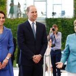 Mrs Merkel 63 is hosting the royal couple at the chancellery before the visit the Brandenburg Gate