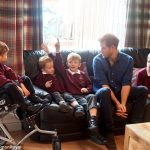 Ms McOmish Rooney and her five sons met Prince Harry and sat with him on the sofa of their three bedroom home