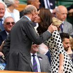 No hard feelings The Duchess exchanged warm greetings with the Queens cousin the Duke of Kent