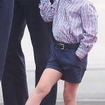 One is not amused Understandably Prince George seemed a little underwhelmed by the formality of the occasion and was seen fidgeting and swinging his legs as his father received an official welcome