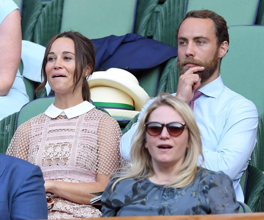 Pippa Middleton and James Middleton Enjoying the court drama Photo (C) GETTY IMAGES