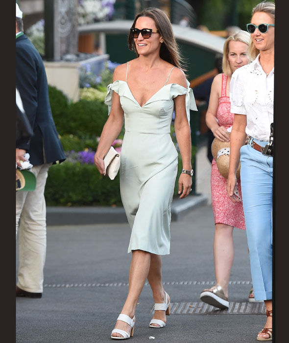 Pippa Middleton at Wimbledon in London Photo (C) SPLASHNEWS, ZED JAMESON