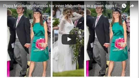 Pippa Middleton channels her inner Irish colleen in a green dress for her best friends wedding