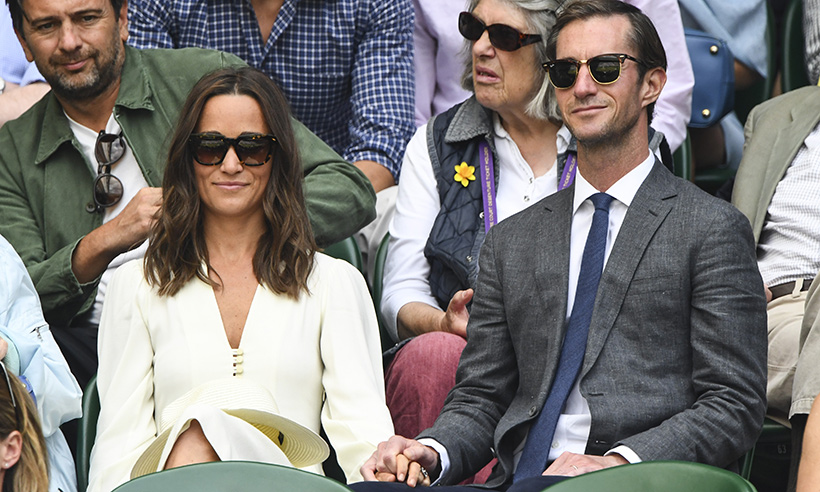 Pippa Middleton wows in Wimbledon white with husband James Matthews Photo (C) GETTY IMAGES
