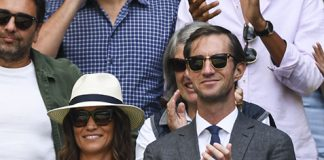 Pippa and James watched Roger Federer at Wimbledon Photo (C) GETTY IMAGES