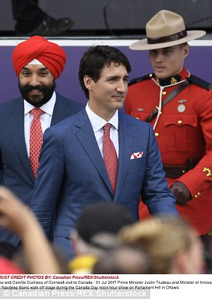 Justin Trudeau during Canada Day Celebrations on Parliament Hill