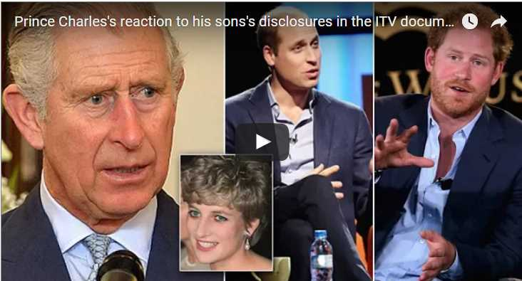 Prince Charles's reaction to his sons's disclosures in the ITV documentary