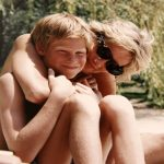 Prince Harry and Princess Diana in a photo from the princes' personal collection Photo C THE DUKE OF CAMBRIDGE AND PRINCE HARRY PA