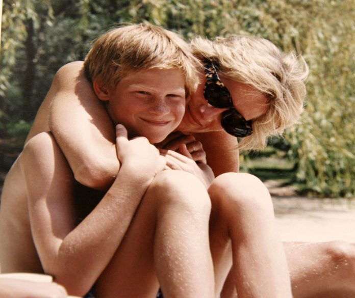 Prince Harry and Princess Diana in a photo from the princes' personal collection Photo (C) THE DUKE OF CAMBRIDGE AND PRINCE HARRY, PA