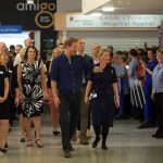 Prince Harry during a visit to Leeds Childrens Hospital on the second day of his two day visit to the city