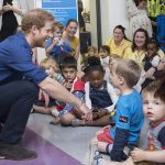 Prince Harry meets staff patients and their families during a visit to Leeds Childrens Hospital on the second day of his two day visit to the city