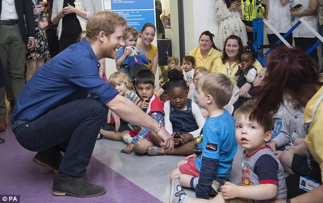 Prince Harry meets staff, patients and their families during a visit to Leeds Children's Hospital, on the second day of his two-day visit to the city