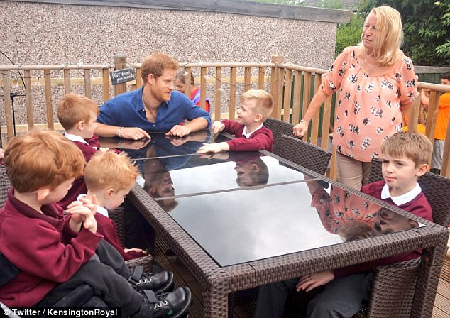 Prince Harry talked with Oliver, his four brothers about how they were making over their garden to accommodate Oliver