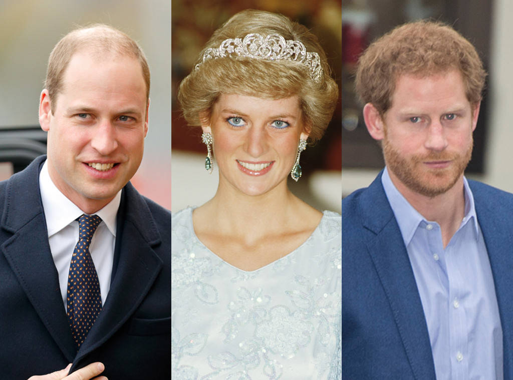 Prince William, Duke of Cambridge , Princess Diana , Prince Harry Photo (C) GETTY IMAGES