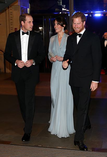 Prince William, Kate and Prince Harry will attend the state banquet Photo (C) GETTY IMAGES